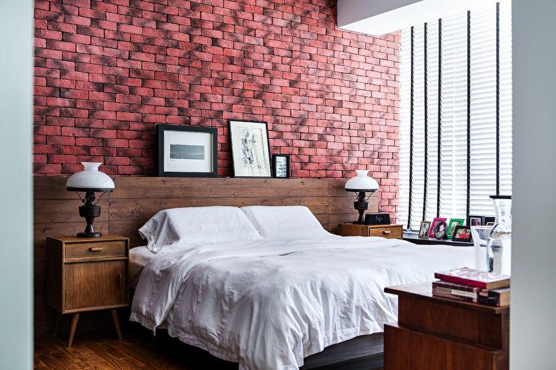 Розовая спальня в скандинавском стиле - Дизайн интерьера