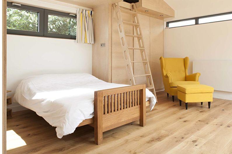 Дизайн спальни в скандинавском стиле - Отделка пола