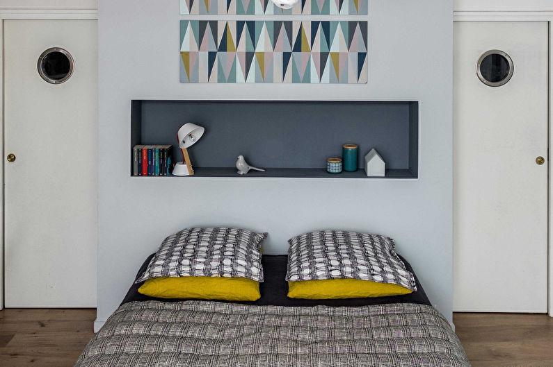 Дизайн спальни в скандинавском стиле - Декор и текстиль