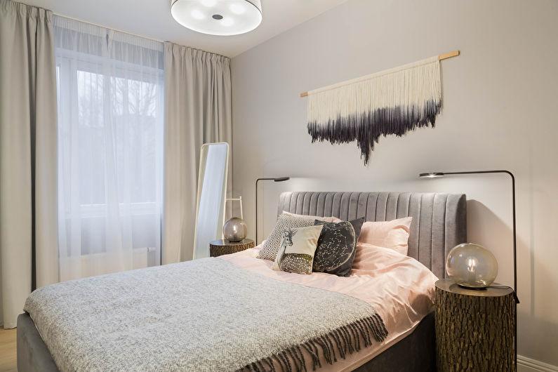Маленькая спальня в скандинавском стиле - Дизайн интерьера