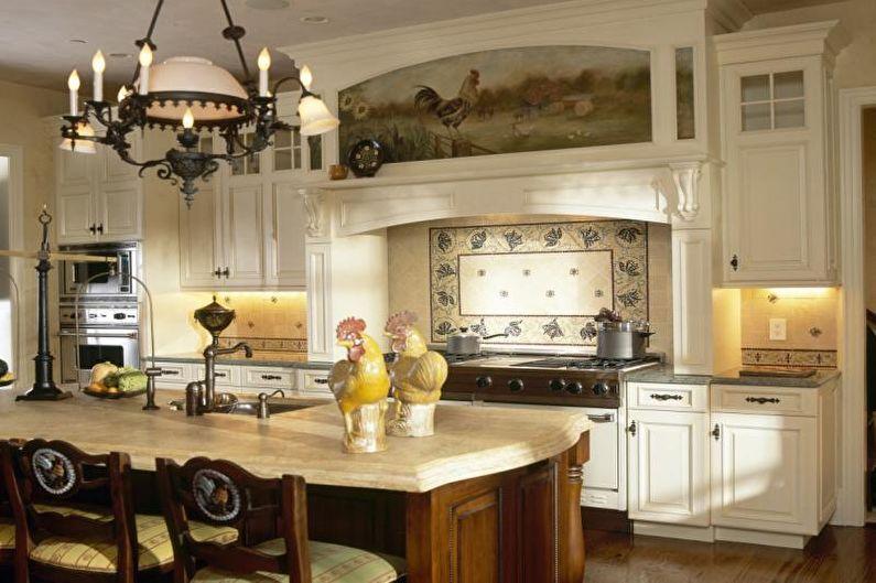 Кухня 14 кв.м. в стиле кантри - Дизайн интерьера
