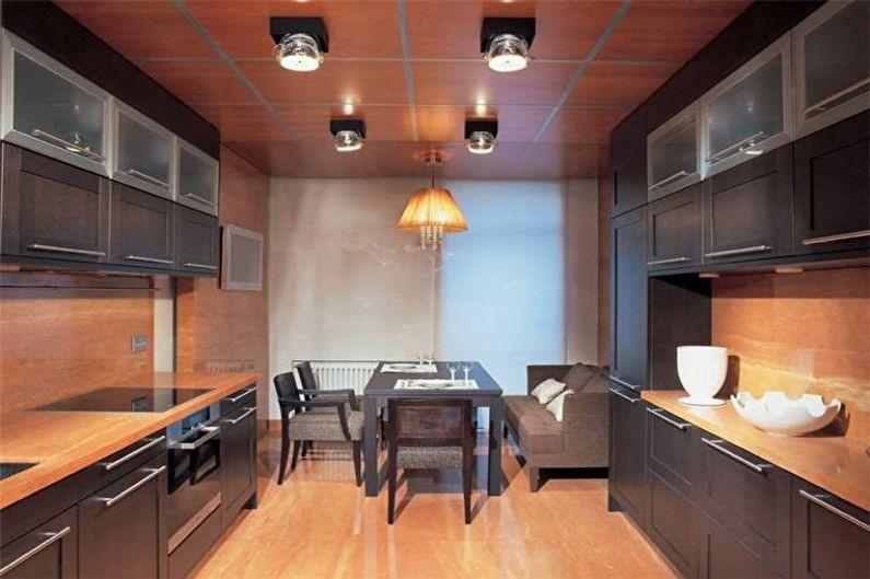 Коричневая кухня 14 кв.м. - Дизайн интерьера
