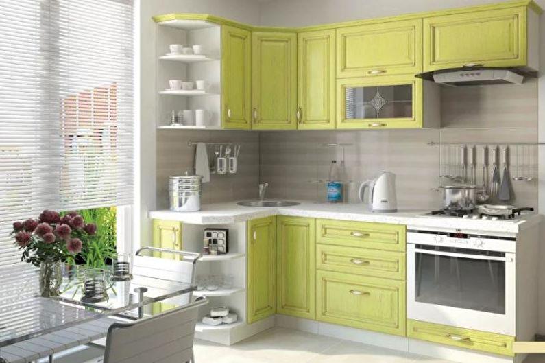 Желтая кухня 14 кв.м. - Дизайн интерьера