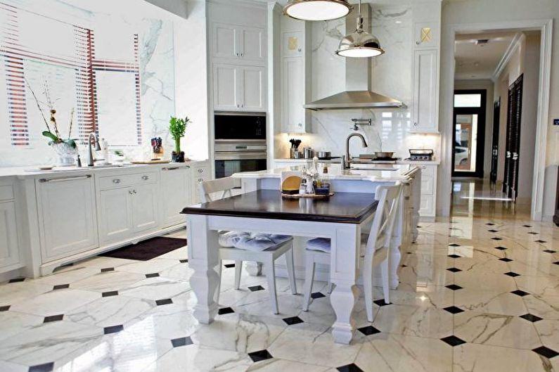 Дизайн кухни 14 кв.м. - Отделка пола