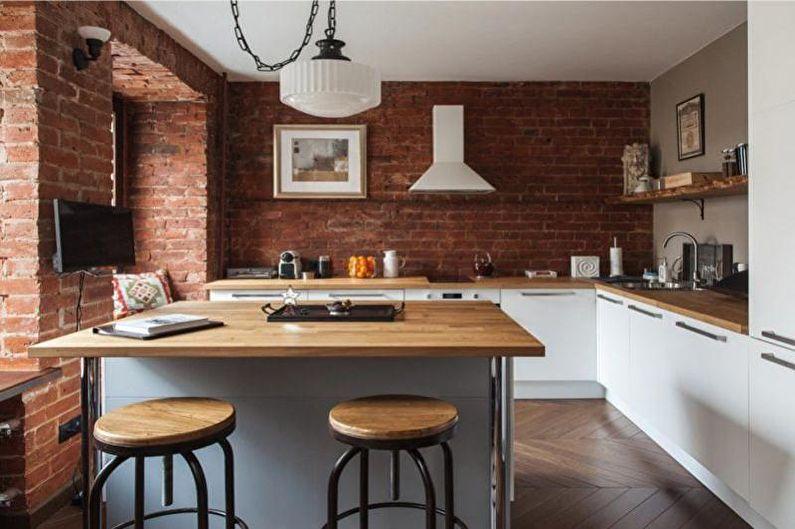 Дизайн кухни 14 кв.м. - Отделка стен