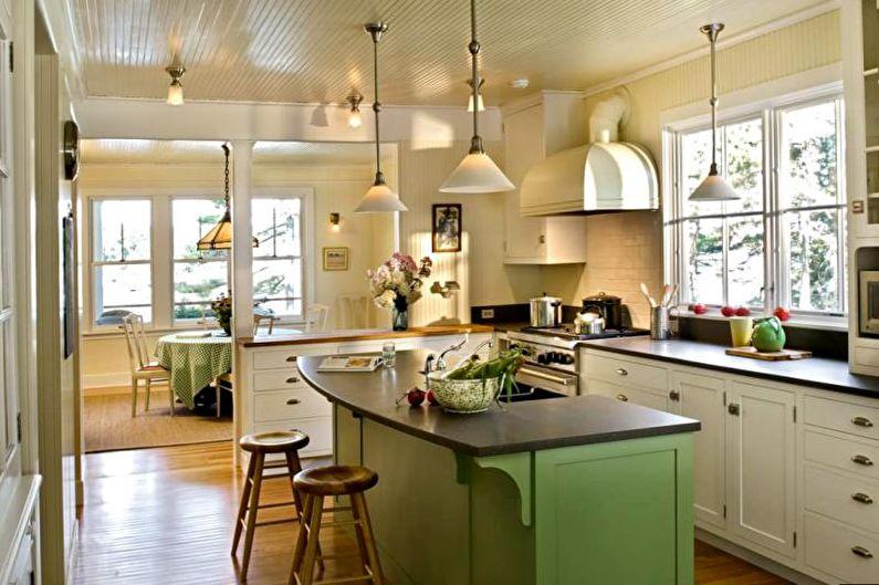 Дизайн кухни 14 кв.м. - Освещение
