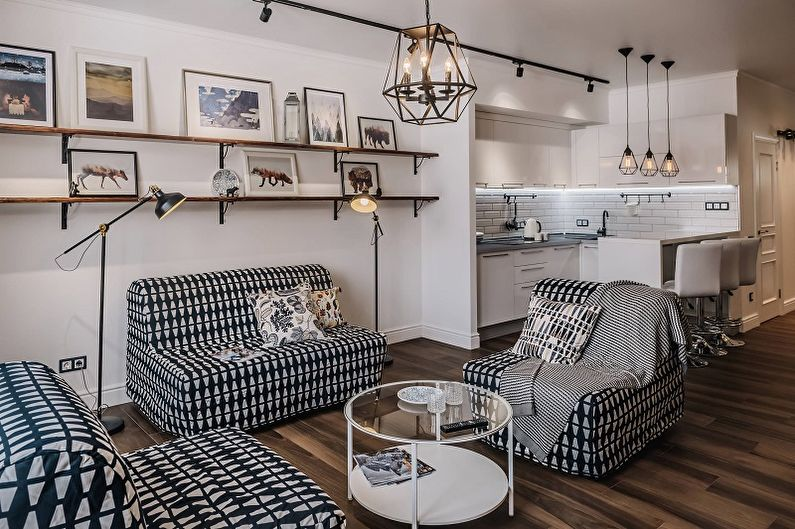 Дизайн узкой гостиной - Выбор стиля