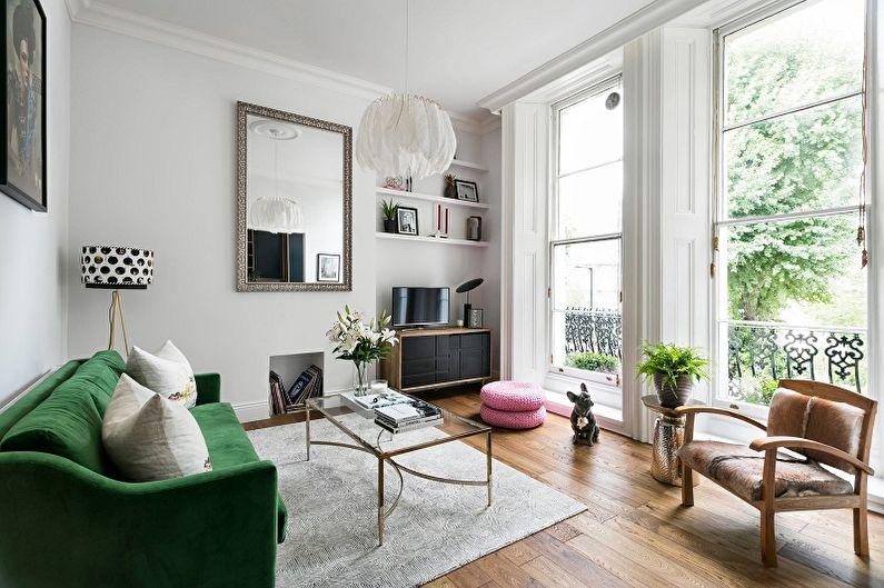 Дизайн узкой гостиной - Мебель и варианты планировки