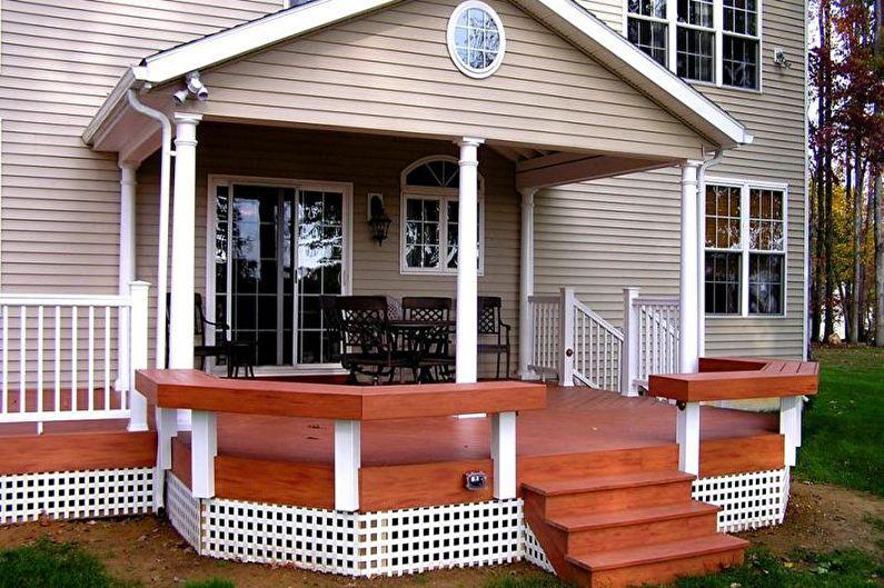 Как оформить крыльцо частного дома: 80 идей