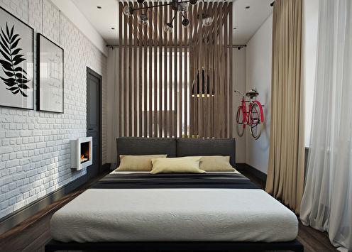 Дизайн-проект спальни с рабочим местом