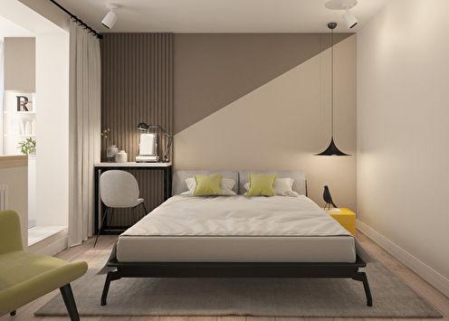 «Уроки геометрии»: Спальня в скандинавском стиле