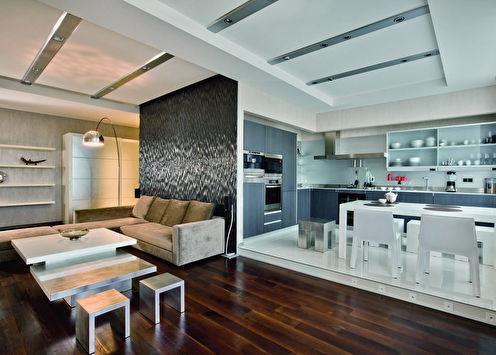 Квартира «Ритмичный минимализм», 120 кв.м.