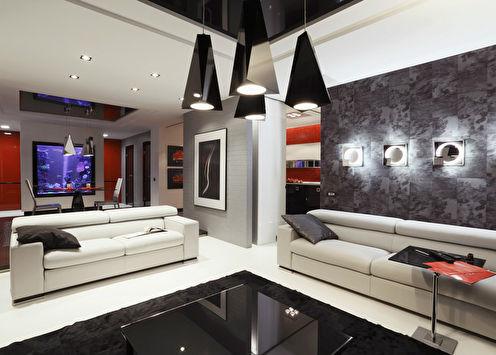 Квартира «Красное на черном»