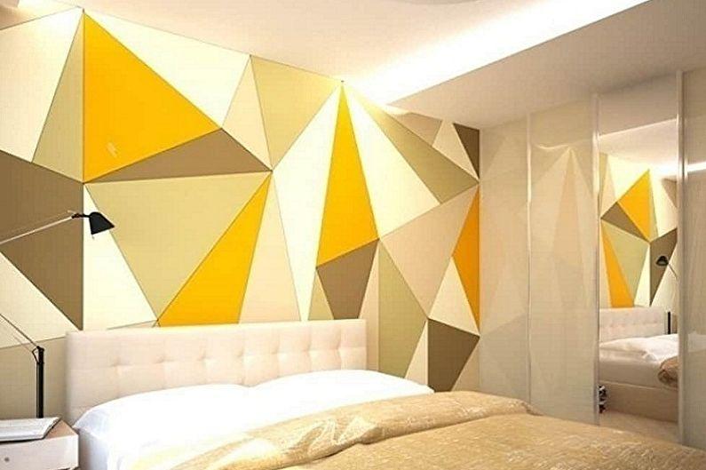 Обои для спальни в стиле хай-тек