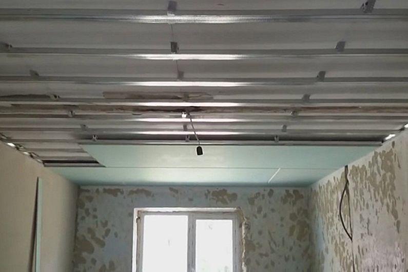 Потолок из гвл своими руками фото