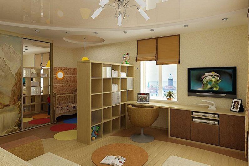 Как зонировать комнату для родителей и ребенка - Зонирование комнаты с помощью мебели