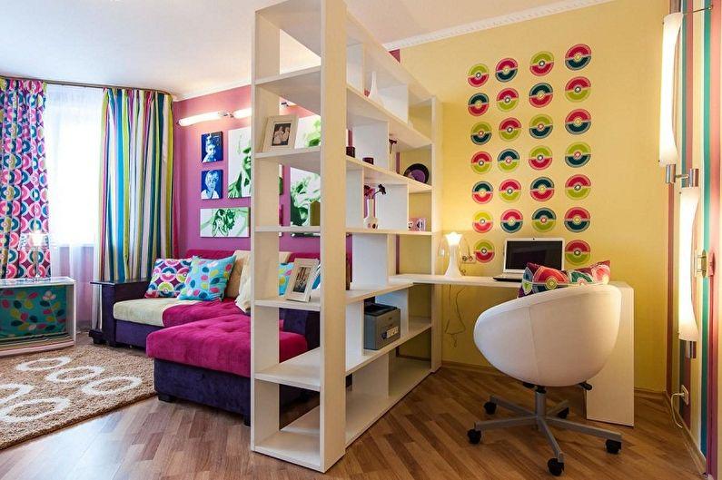 Как зонировать комнату для родителей и ребенка - фото