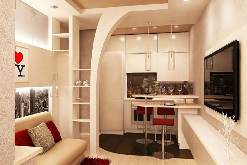 Дизайн кухни 3 на 4 метра - Преимущества