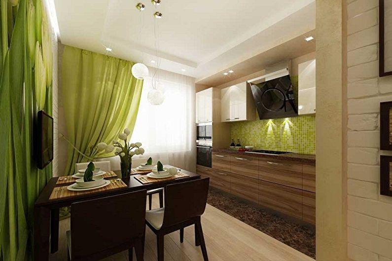 Дизайн кухни 3 на 4 метра - Отделка пола