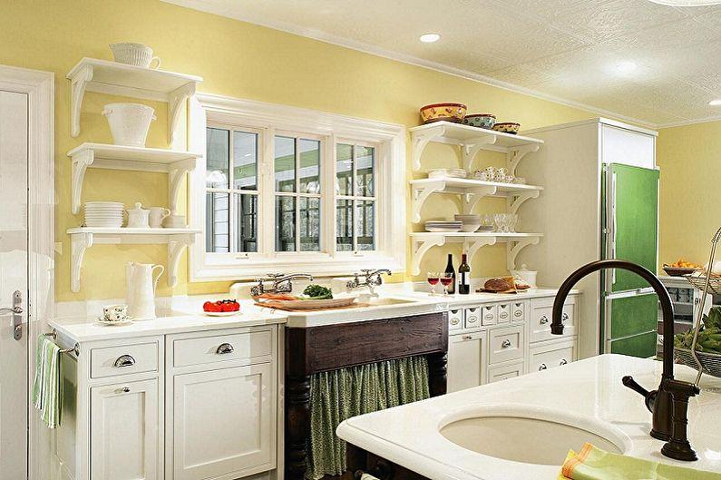 Дизайн кухни 3 на 4 метра - Отделка стен
