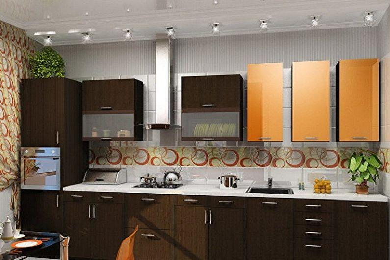 Дизайн кухни 3 на 4 метра - Освещение и декор