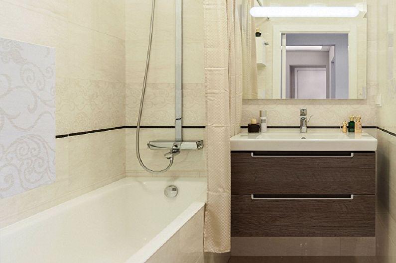 Белая ванная комната 3 кв.м. - Дизайн интерьера
