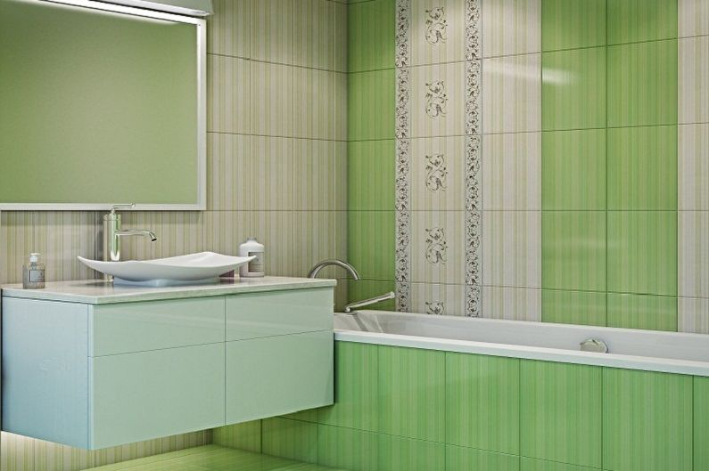 Зеленая ванная комната 3 кв.м. - Дизайн интерьера
