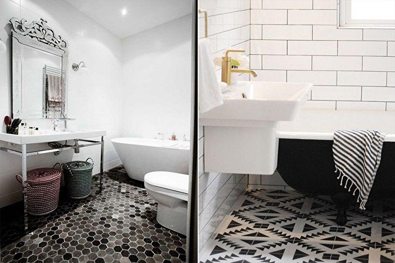 Дизайн ванной комнаты 3 кв.м. - Отделка пола