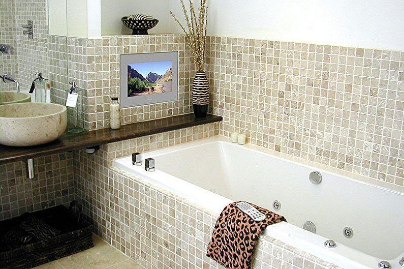 Дизайн ванной комнаты 3 кв.м. - Отделка стен