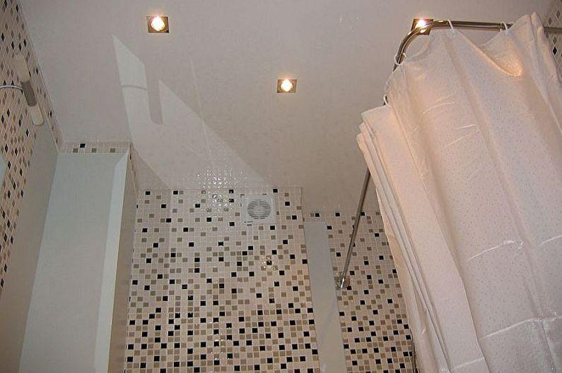 Дизайн ванной комнаты 3 кв.м. - Отделка потолка