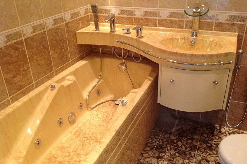 Дизайн ванной комнаты 3 кв.м. - Сантехника и мебель