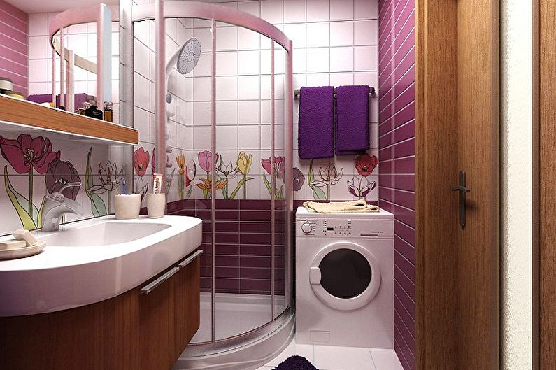 Дизайн ванной комнаты 3 кв.м. - Освещение и декор