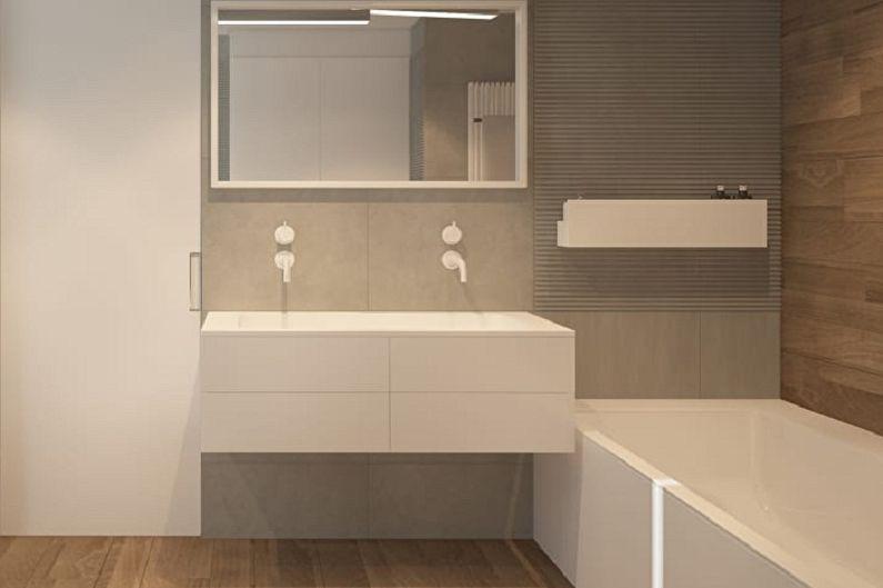Ванная комната 3 кв.м. в стиле минимализм - Дизайн интерьера