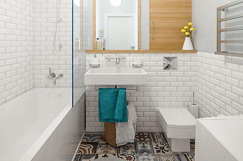 Ванная комната 3 кв.м. в скандинавском стиле - Дизайн интерьера