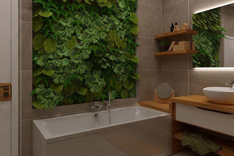 Ванная комната 3 кв.м. в эко-стиле - Дизайн интерьера