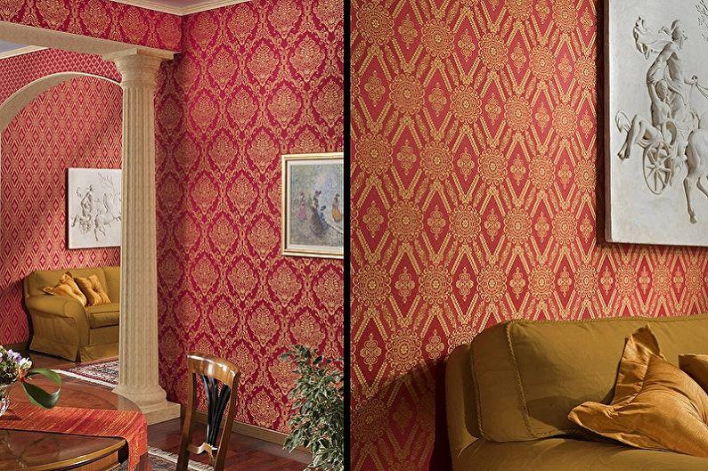 Виды обоев для стен - Текстильные обои