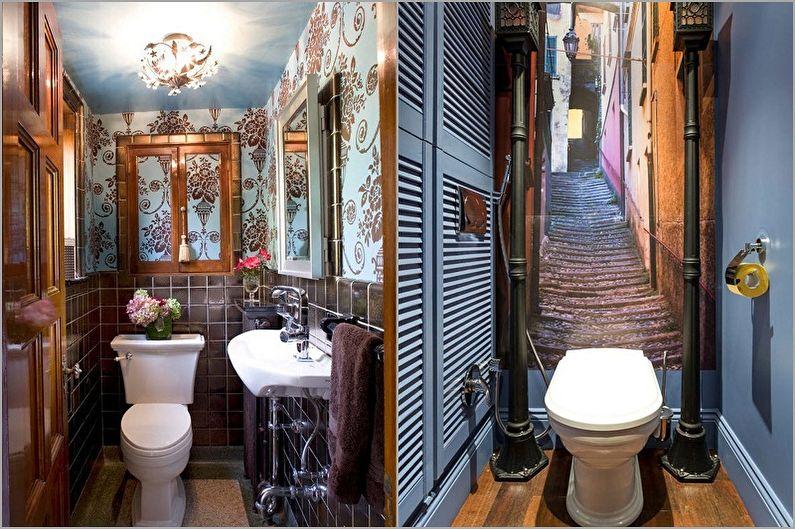 Материал для отделки стен в туалете - Обои