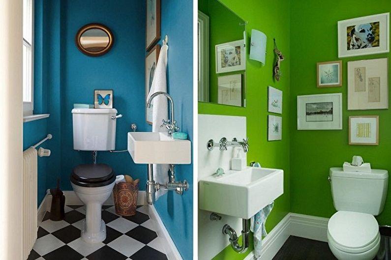 Материал для отделки стен в туалете - Краска