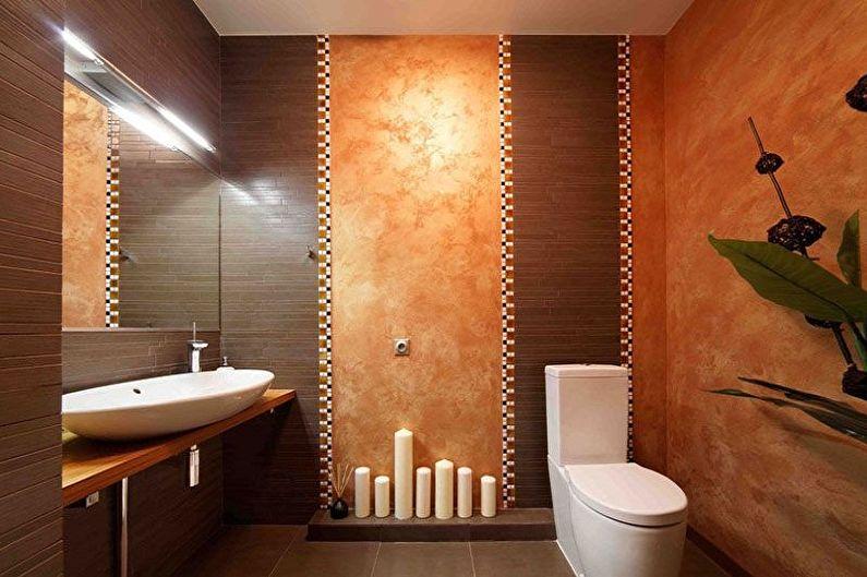 Отделка стен в туалете - фото