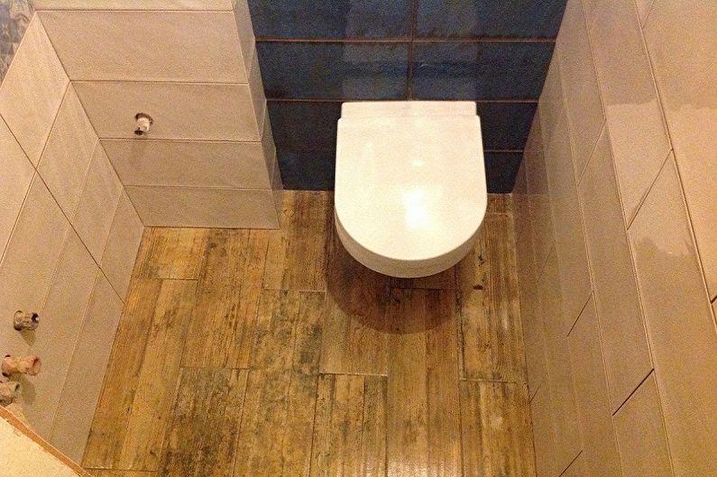 Дизайн туалета в хрущевке - Отделка пола