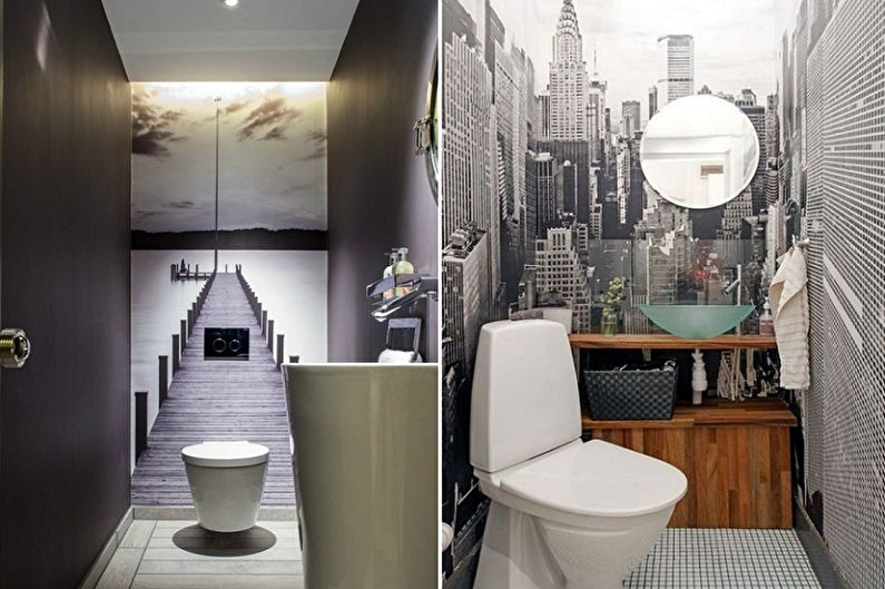 Дизайн туалета в хрущевке - Отделка стен