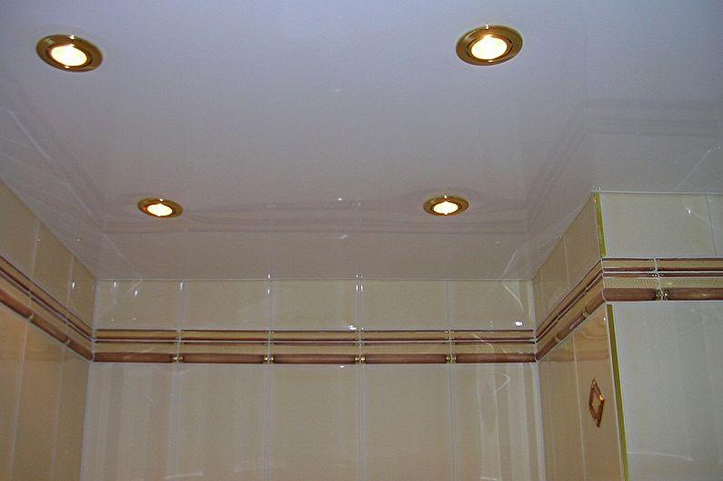 Дизайн туалета в хрущевке - Отделка потолка