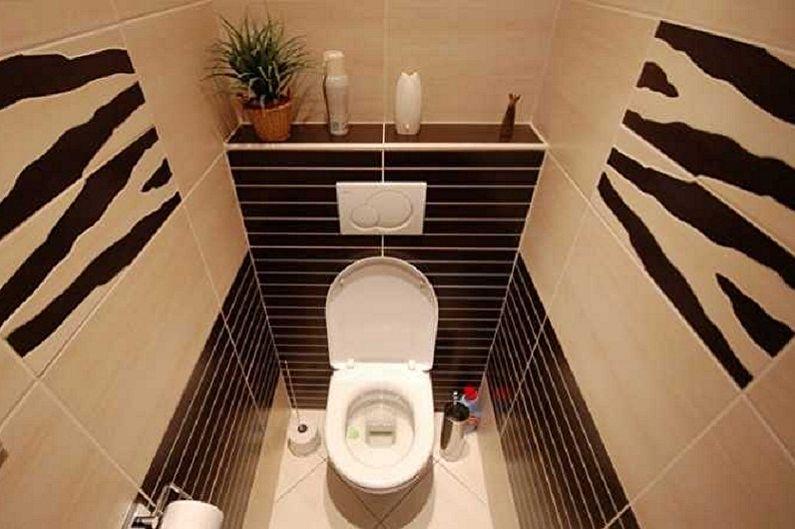 Дизайн туалета в хрущевке - Освещение и декор