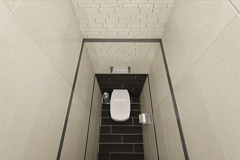 Туалет в хрущевке в стиле минимализм - Дизайн интерьера