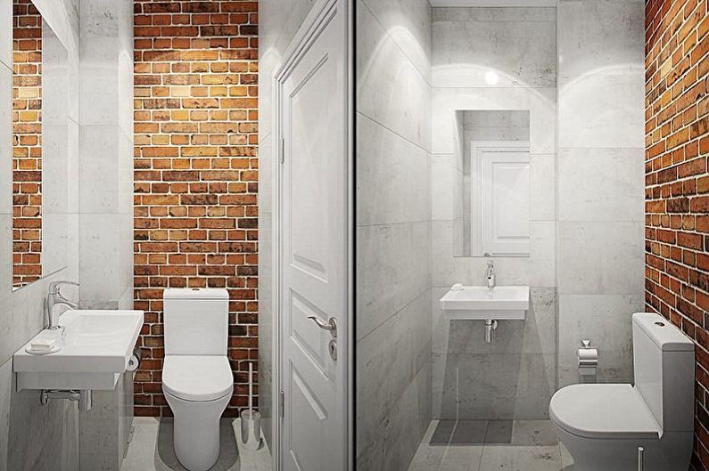 Туалет в хрущевке в стиле лофт - Дизайн интерьера