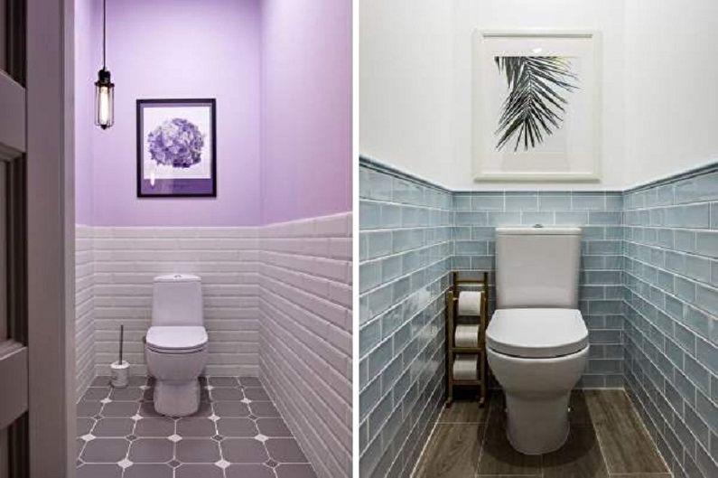 Туалет в хрущевке в стиле ретро - Дизайн интерьера
