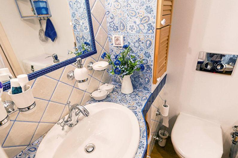 Туалет в хрущевке в стиле прованс - Дизайн интерьера