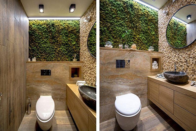 Туалет в хрущевке в эко-стиле - Дизайн интерьера