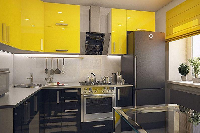 Дизайн кухни 3 на 3 метра - Цветовые решения