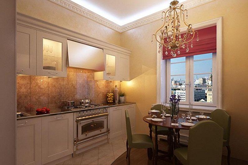 Дизайн кухни 3 на 3 метра - Отделка стен